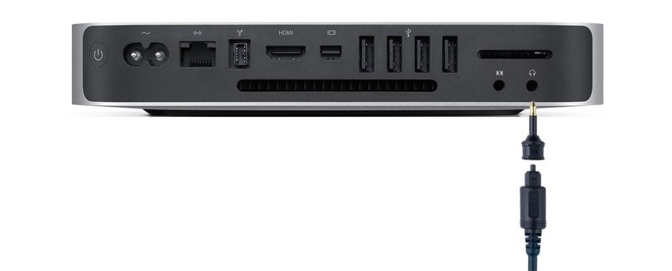 ミニ 光デジタルオーディオ (S/PDIF) ケーブル (角型ー丸型)