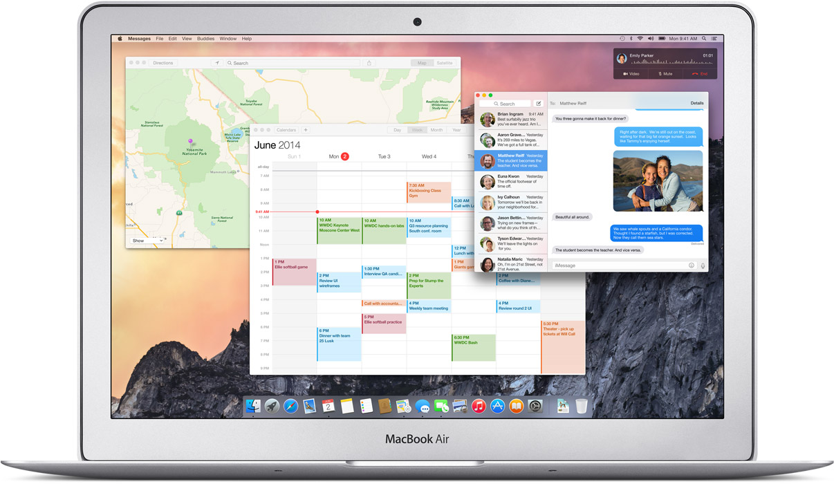 OS X 10.10 Yosemite on MacBook Air