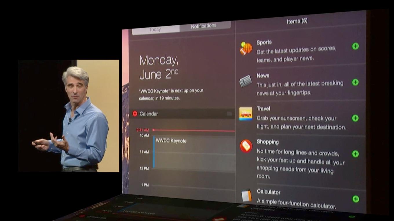 WWDC 2014の通知センターウィジェット