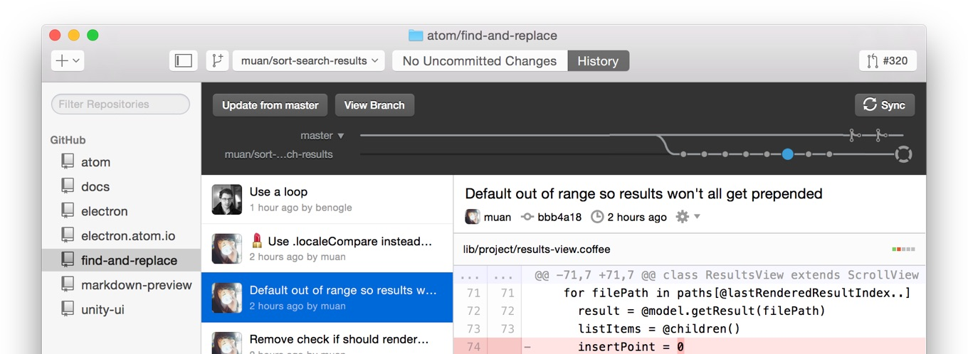 GitHub Desktop is now available on OS X and Windows
