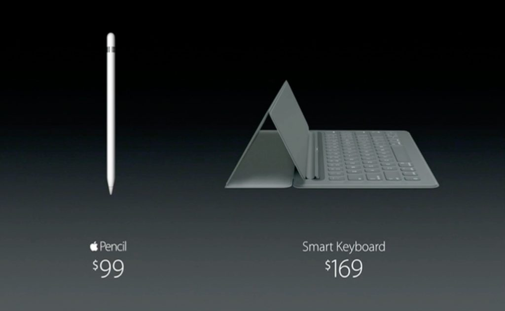 Apple Pencilの価格とSmart Keyborad