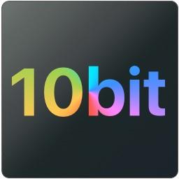 DCI-P3 10bitカラーのロゴ
