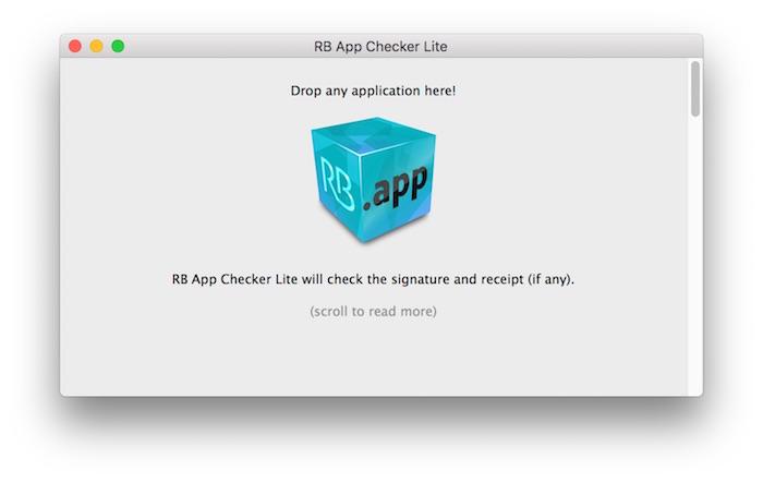 RB App Checker Liteのウィンドウ