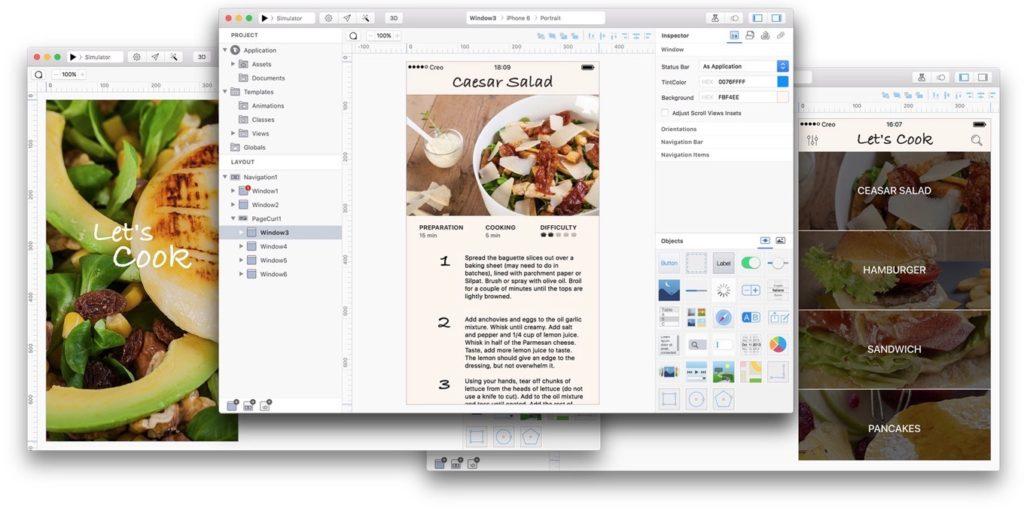 Mac用モックアップツールCreo