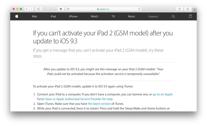 Apple-push-iPad-2-cannot-activate-after-iOS-93-support-page