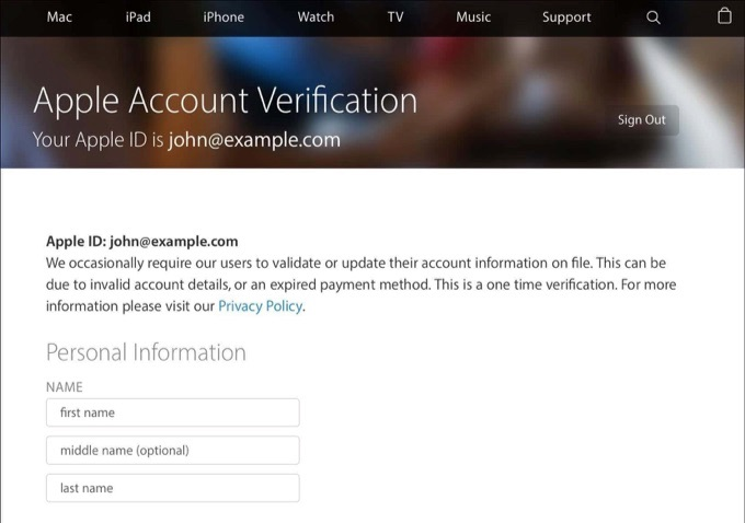 Apple-ID-phishing-site