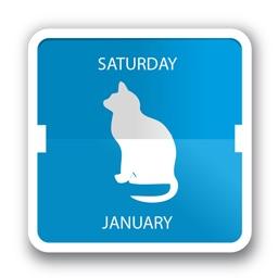 毎日違う猫の写真をデスクトップ上に表示してくれるmac用カレンダーアプリ Cal Cat が無料セール中 pl Ch