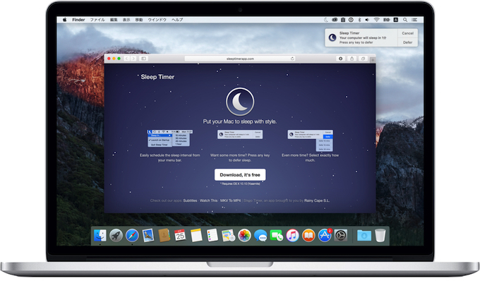 Sleep-Timer-app-on-MacBook