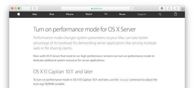 Turn_on_performance_mode_for_OS_X_Server