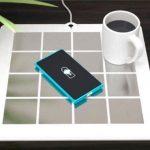 スマートフォンに薄型パッドを貼るだけでワイヤレス給電を利用できる給電システム「Energysquare」がKickstarterに登場。