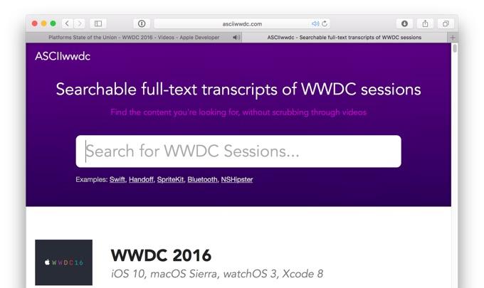 ASCIIwwdc-add-wwdc-2016-transcripts