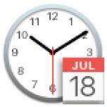 macOSの日付アイコン。