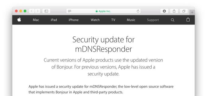 Security-update-for-mDNSResponder
