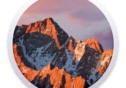 macOS Sierra 10.12 のロゴ。
