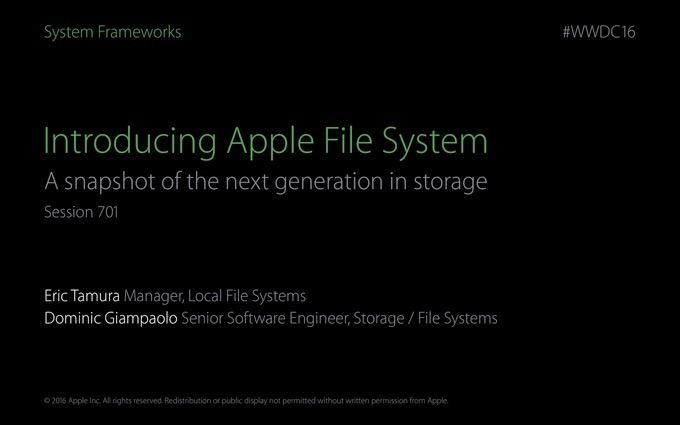 WWDC-2016-Session-701-APFS-Hero