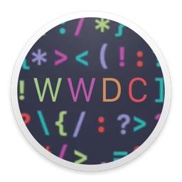 セッションなどを視聴できるWWDCアプリのアイコン