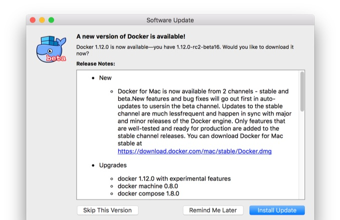 Docker-for-Mac-Stable-Update
