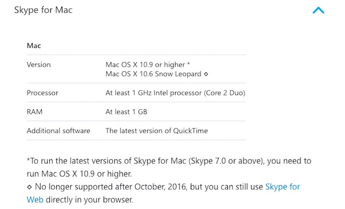 Skype-for-Mac-require