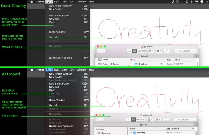 Duet-Display-diff-Astropad-same-screen