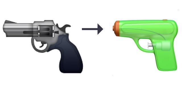 Pistol-emoji-change-ios10-macos-10-12