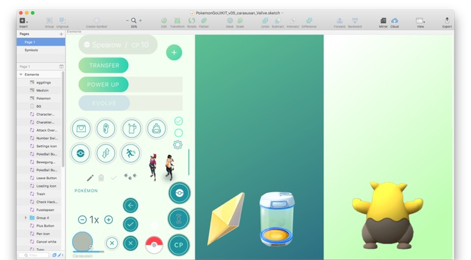 Pokemon-GO-UI-Elements-for-Sketch
