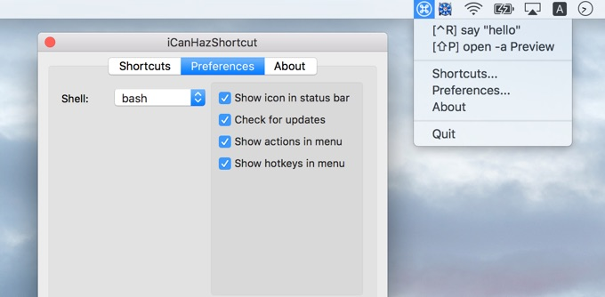 iCanHazShortcut-Preferences