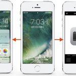 iOS 10ではロック画面をスライドしウィジェットやカメラを起動、ホームボタンを押してロックを解除に。
