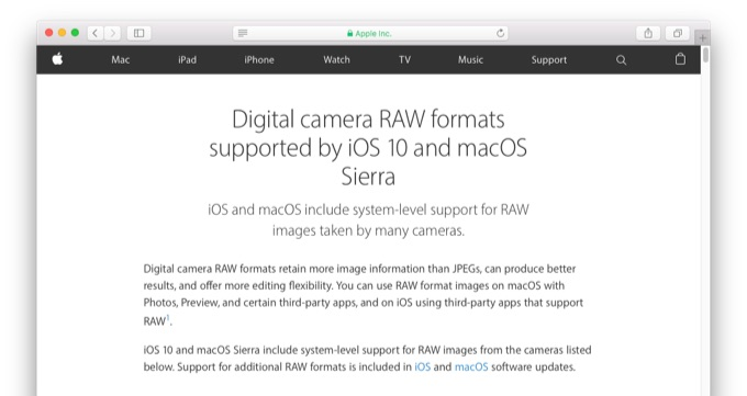 digital-camera-raw-formats-support-ios-10-and-sierra