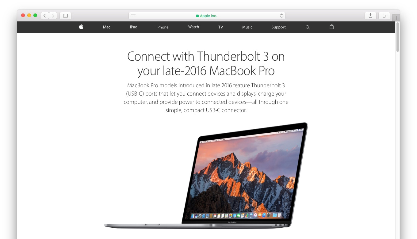 mbp-late-2016-thunderbolt-3-support-page