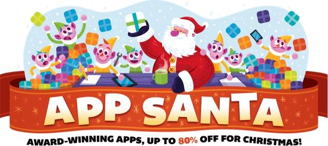 アプリセール・キャンペーン「App Santa」のバナー
