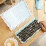Apple Magic Keyboardレイアウトのタイプライター風ワイヤレスキーボード「Lofree」が2月に発売予定。