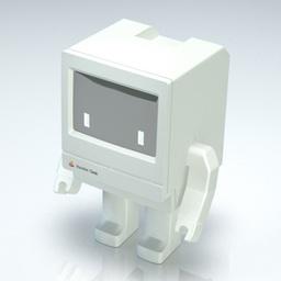 Macintosh Classicを模したフィギュア Macinbot Classic がプレオーダーを開始 pl Ch