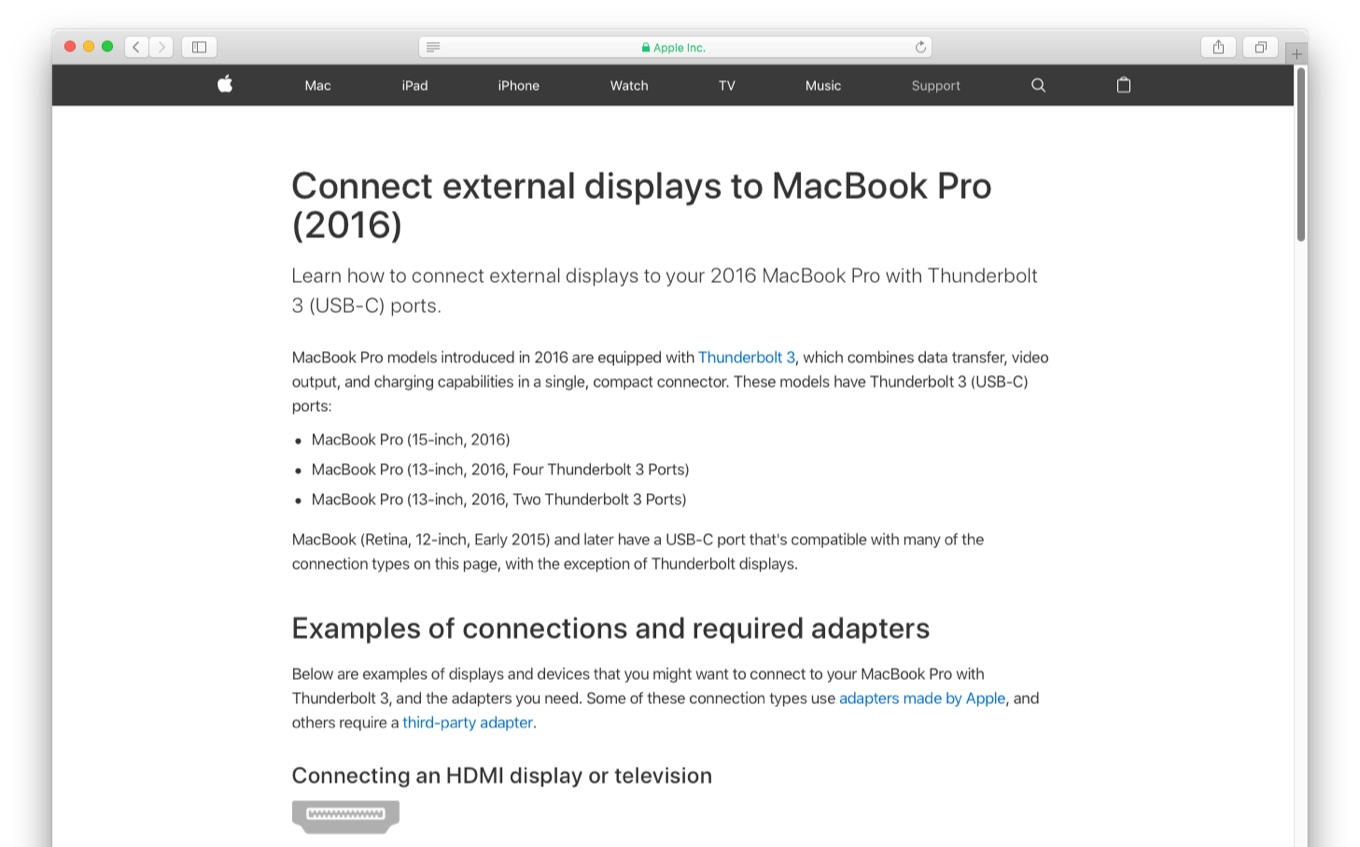 how to connect two thunderbolt displays to macbook pro