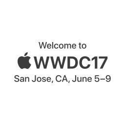 WWDC 2017の開催地と期間のロゴ