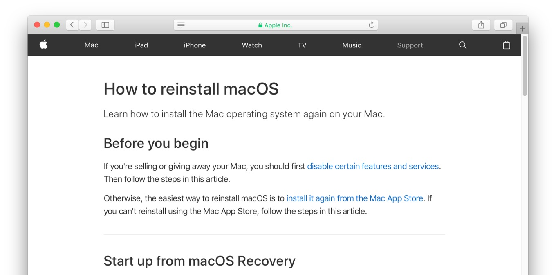 Apple、macOS 10 12 4以降のMacに新しい再インストール