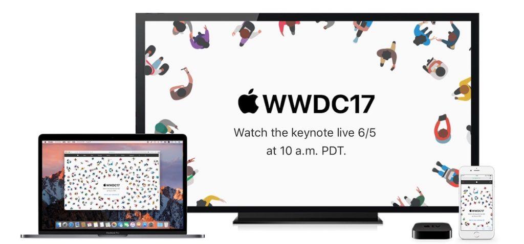 Appleが2017年06月06日午前2時から行うWWDC 2017の基調講演のライブストリーミングが視聴可能な対応デバイス。