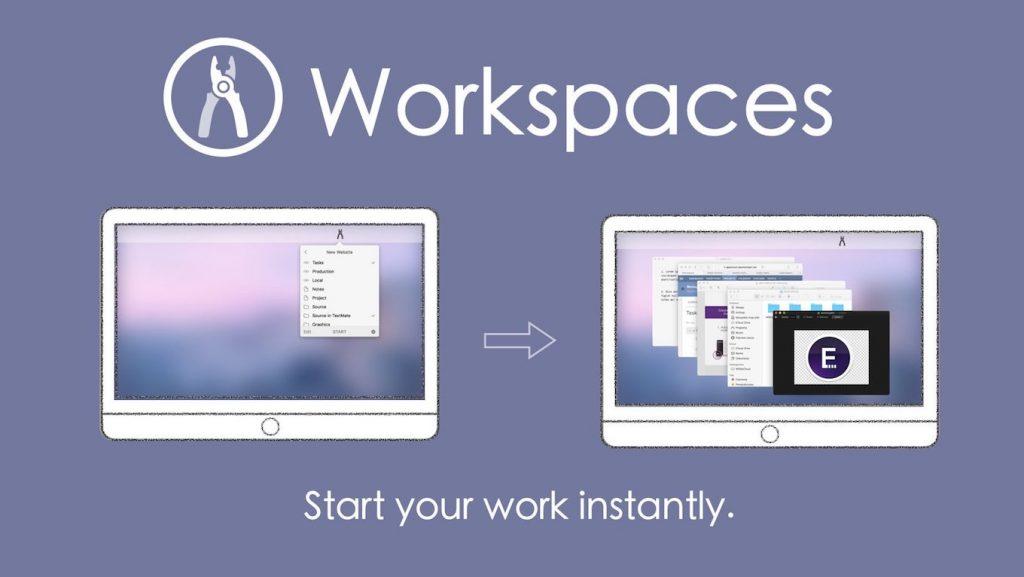 プロジェクトに必要なリソースをまとめて管理出来るWorkspaces for macOSの機能説明。