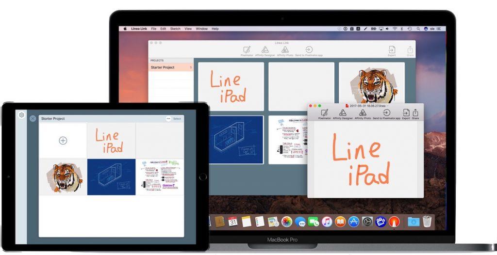 Linea LinkをPixelmatorで開いたところ。
