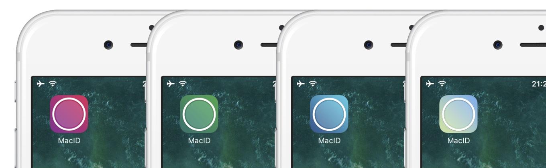 MacIDのAlternate Icon機能で変更したアイコン例