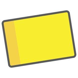 macOSの通知センターに写真やテキストを保存しておくことの出来るウィジェット「Scrapbook Kuro」のアイコン。