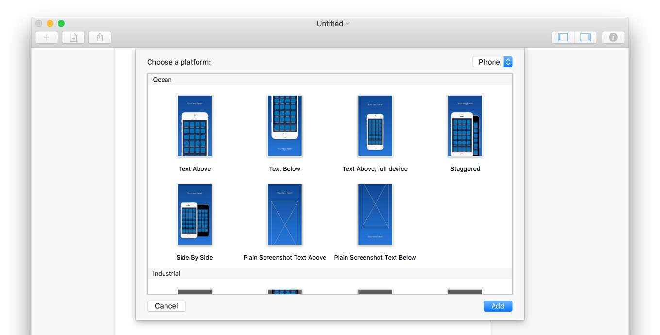 app store screenshot template - mac iphone ipad app store mac