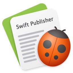 Mac用DTPアプリ「Swift Publisher 5」のアイコン。
