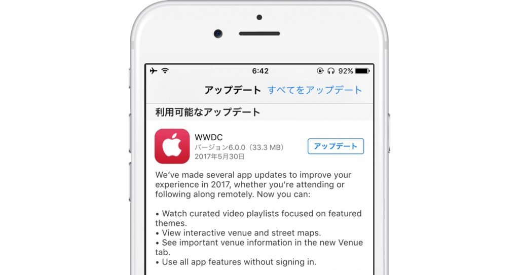 WWDC for iOS v6.0のリリースノート。