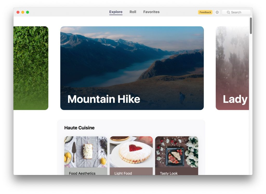 Mac用壁紙アプリ「Wallpaper Wizard 2」のメインウィンドウ。