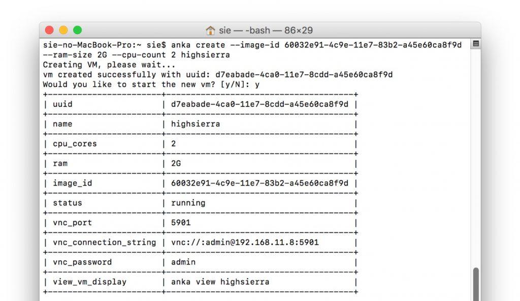AnkaでHigh Sieraの仮想マシンをセットアップ。