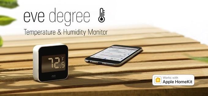 Elgatoの温度/湿度計「Eve Degree」の使用事例。