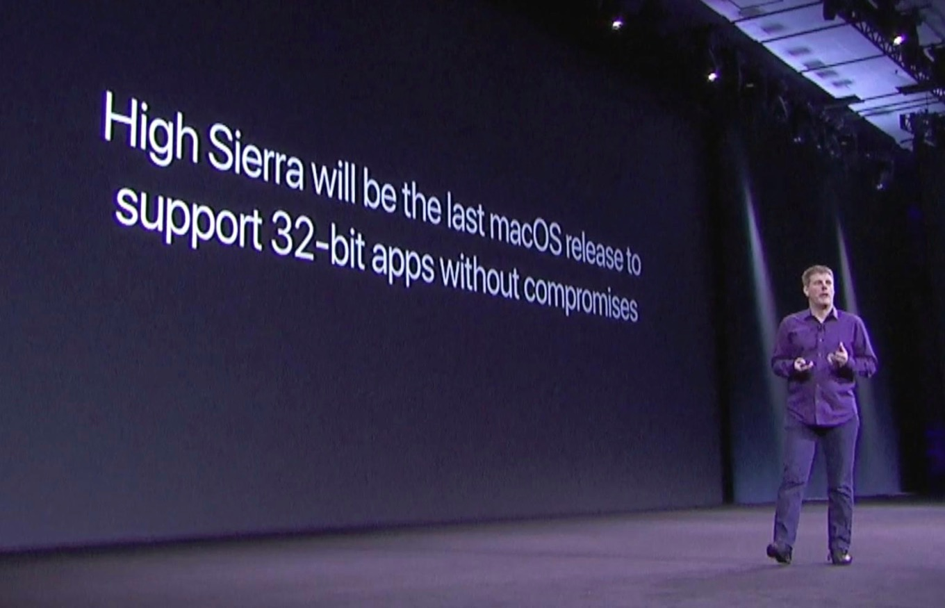 High Siera will be the last macOS release to support 32-bit apps without compromises