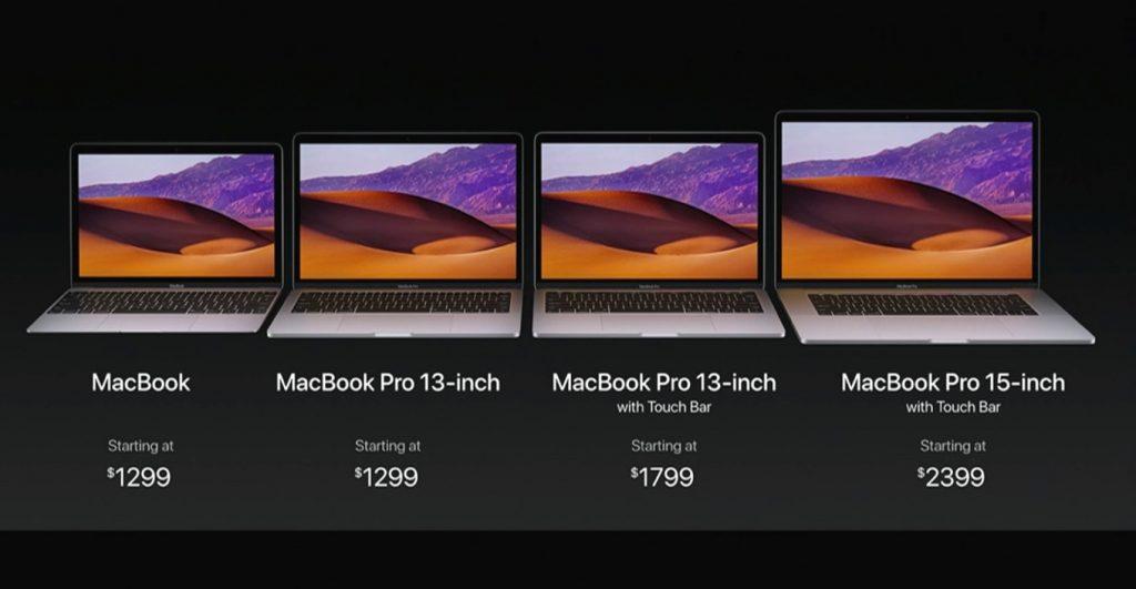 MacBook Pro 2017の価格。