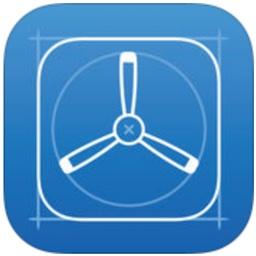 TestFlightアプリのアイコン。