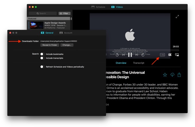 WWDC for macOSのPreference